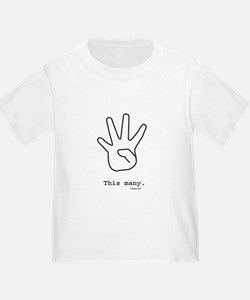 This Many (4) Toddler Tee