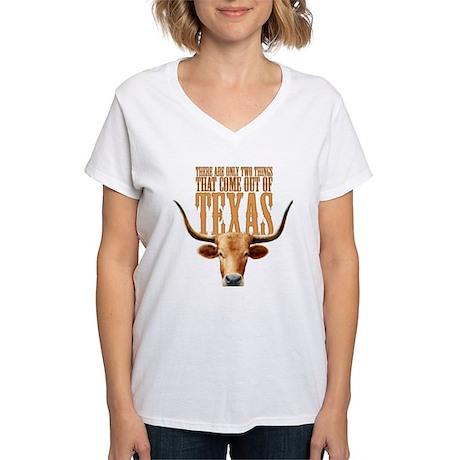 Texas Steers Women's V-Neck T-Shirt