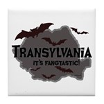 Transylvania It's Fangtastic Tile Coaster