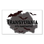 Transylvania It's Fangtastic Rectangle Sticker