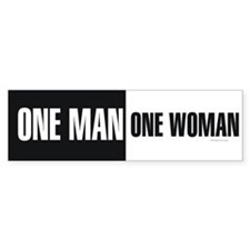 One Man One Woman Bumper Sticker