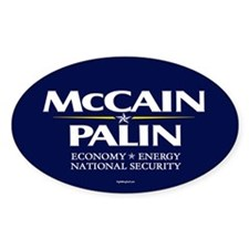 McCain Palin National Security Oval Decal