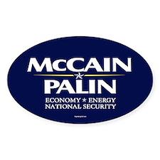 McCain Palin National Security Oval Decal
