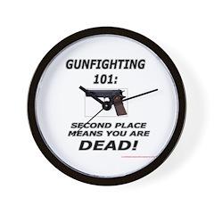 GUNFIGHTING 101 Wall Clock