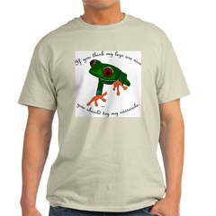 Nice Frog Legs Ash Grey T-Shirt