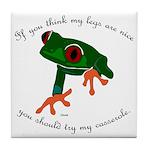 Nice Frog Legs Tile Coaster