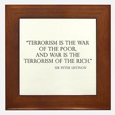 War and Terror Framed Tile
