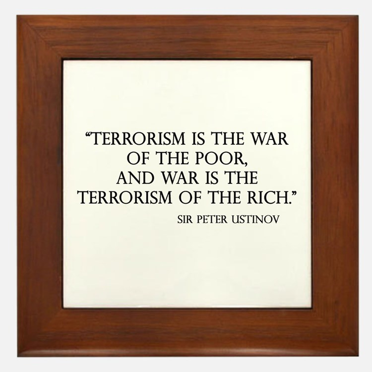 War and Terror Framed Tile