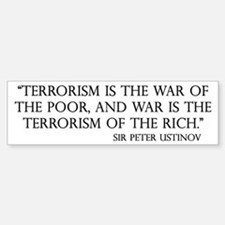 War and Terror Bumper Bumper Bumper Sticker