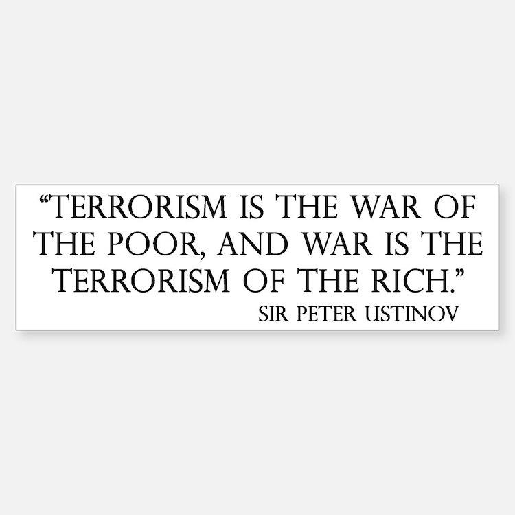 War and Terror Bumper Bumper Bumper Sticker