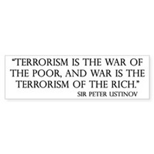 War and Terror Bumper Bumper Sticker