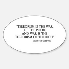 War and Terror Oval Decal