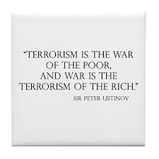War and Terror Tile Coaster
