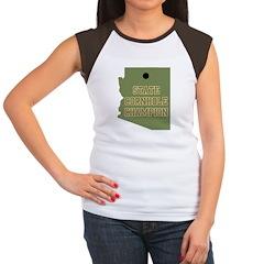 Arizona State Cornhole Champi Women's Cap Sleeve T