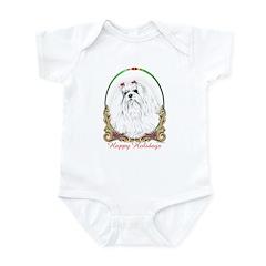 Maltese Happy Holidays Infant Creeper