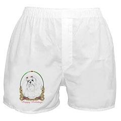Maltese Happy Holidays Boxer Shorts