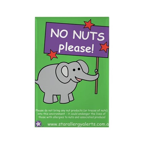 NO NUTS Please! Rectangle Magnet (100 pack)