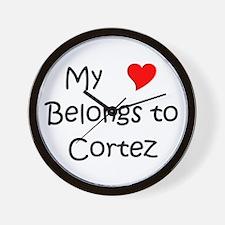 Cute Cortez Wall Clock