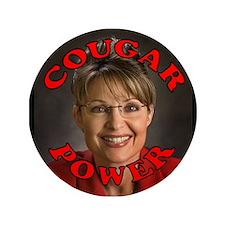 """Sarah Palin """"Cougar Power"""" Button"""