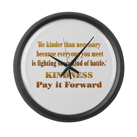 Kindness Large Wall Clock
