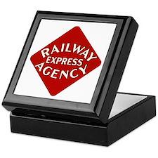 Railway Express Color Logo Keepsake Box