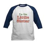 I'm the Little Sister Kids Baseball Jersey