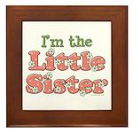 I'm the Little Sister Framed Tile