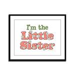 I'm the Little Sister Framed Panel Print