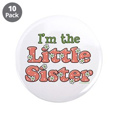 "I'm the Little Sister 3.5"" Button (10 pack)"