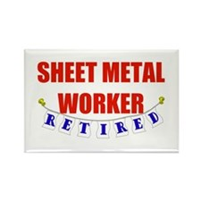 Retired Sheet Metal Worker Rectangle Magnet