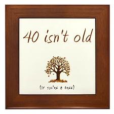 40 isn't old Framed Tile