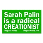 Sarah Palin: Radical Creationist (bumper sticker)
