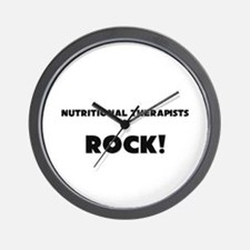 Nutritional Therapists ROCK Wall Clock