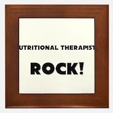 Nutritional Therapists ROCK Framed Tile