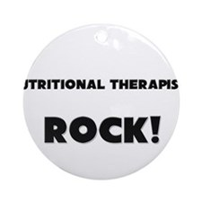Nutritional Therapists ROCK Ornament (Round)
