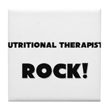 Nutritional Therapists ROCK Tile Coaster