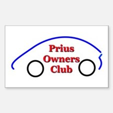 Prius Club Rectangle Decal