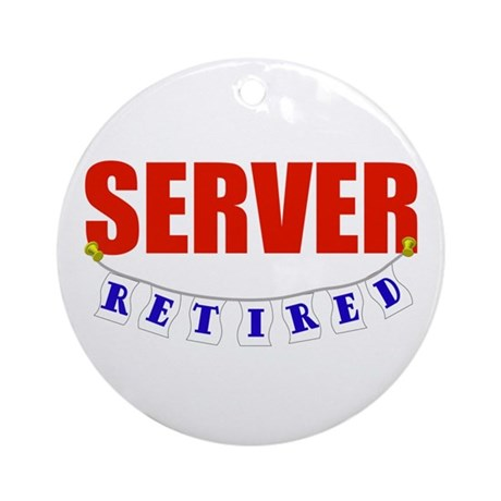 Retired Server Ornament (Round)