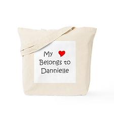 Cute My heart belongs dannielle Tote Bag