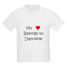 Cute My heart belongs dannielle T-Shirt