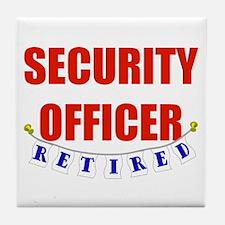 Retired Security Officer Tile Coaster