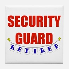 Retired Security Guard Tile Coaster