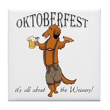 LH Oktoberfest Dachshund Tile Coaster