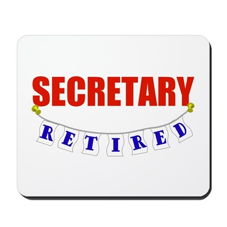 Retired Secretary Mousepad