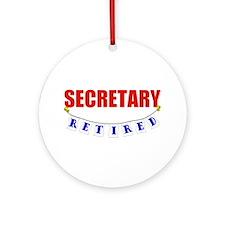 Retired Secretary Ornament (Round)