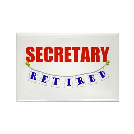 Retired Secretary Rectangle Magnet (100 pack)