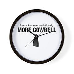 More Cowbell Wall Clock