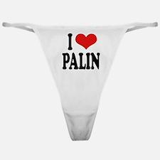 I Love Palin Classic Thong