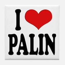 I Love Palin Tile Coaster