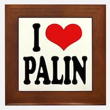 I Love Palin Framed Tile
